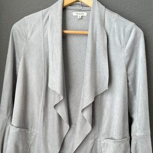 grey max studio soft powder blue throw on jacket
